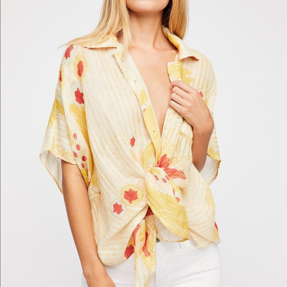 5e9b7b4e5dd NWT Free People- Beach Blossom Printed Cover-Up